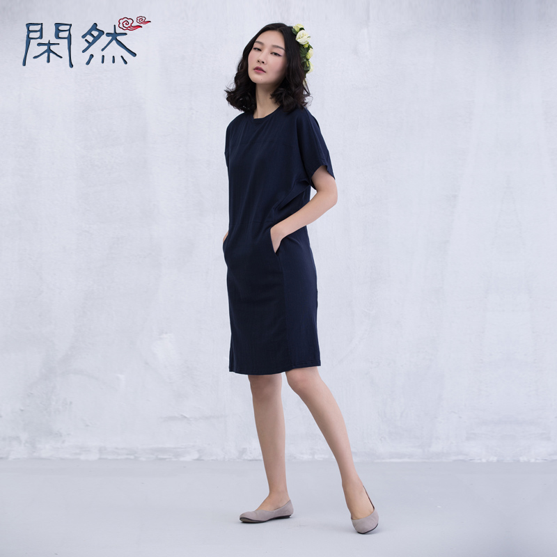 Buy Cheap XianRan 2016 Women Dress Summer Loose Dresses Short Sleeves Cotton Plus Size Dresses Free Shipping