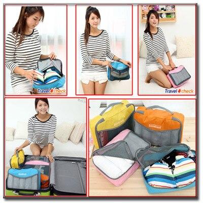 dadbdabf956a Travel accessories luggage pack organizer Storage function mesh bag pouch  travelling necessaries for bra clothes underwear LS-63