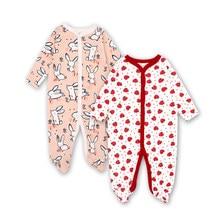 Vêtements pour nouveau-né fille, 2 pièces, vêtements pour bébé fille, imprimé de dessin animé, en coton, de 0 à 12 mois