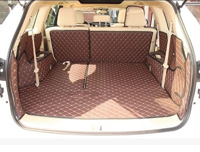 Customized full surrounded car trunk cargo mats for Toyota Highlander 7seats waterproof boot carpets for Highlander