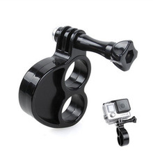 Ring Monopod Knuckles Fingers Grip with Holder Mount Thumb Screw for GoPro Hero four three+ three 2 Sjcam Sj4000 Digicam Equipment