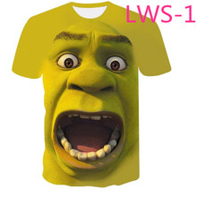 932a51fe6 Shrek Shirt Funny T-shirts Hip Hop Clothes Short Sleeve T-shirt Street 3d