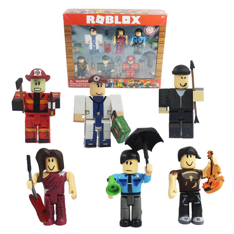 US $6 6 |New 6pcs/set 7 5cm Cartoon PVC Roblox Oyuncak Action Figure Toys  for Weapons Kids Party Gift Boys Roblox Game Character Toys-in Action & Toy