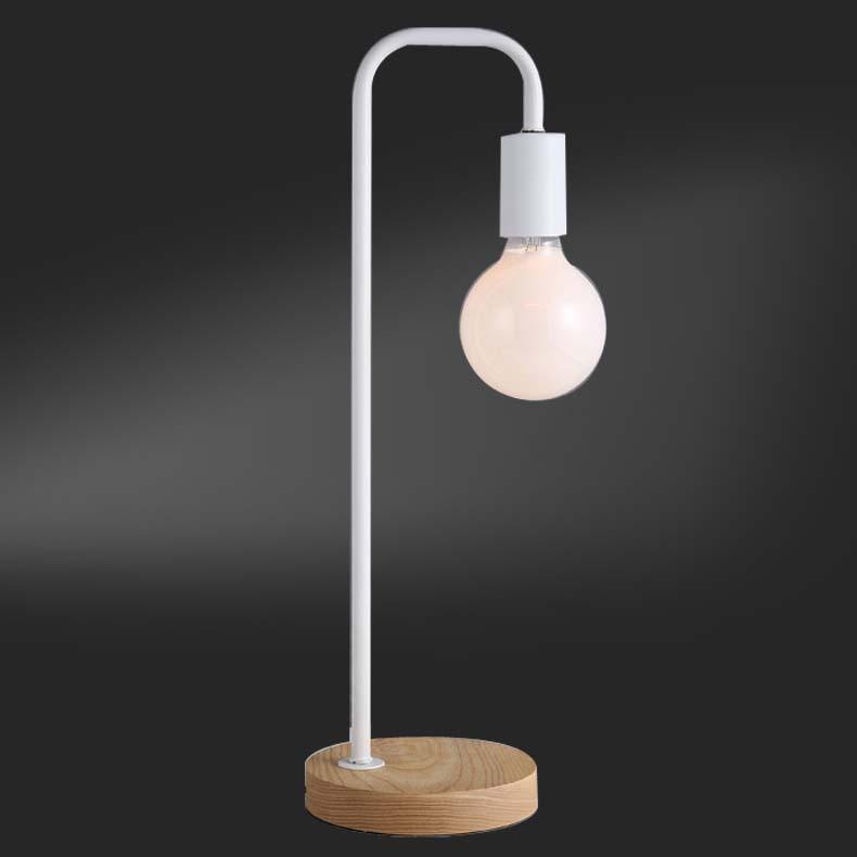 Lovely ... Solid Wood Base Design Floor Table Lamp Bedside Led Desk Light 220v Home  Cafe Bedroom NEW ...