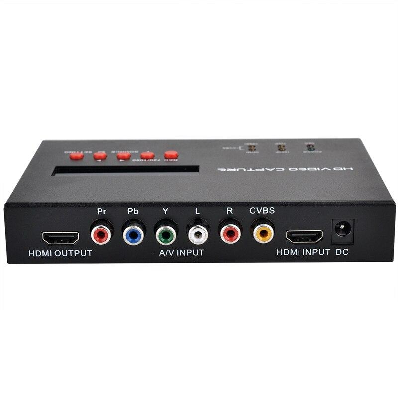 1080 P HD Live Streaming Jeu Vidéo Recorder Capture Grabber HDMI/Ypbpr/CVBS pour XBOX One/360 /PS3/PS4/TV STB avec calendrier