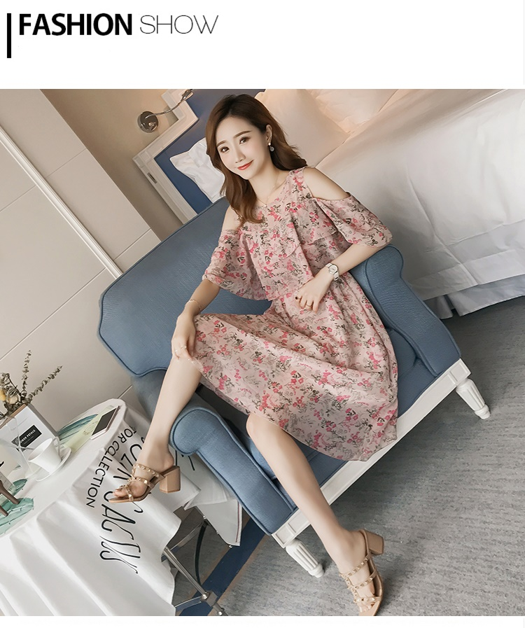 Pregnant Nursing Dress Off Shoulder print Maternity Breastfeeding Dresses For Photo Shoot Chiffon Maternity Dress Party Clothes 74