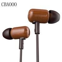 DZAT DF 10 In Ear Earphone Wood Earphone Bass HIFI Fever DIY Wooded Earphone With