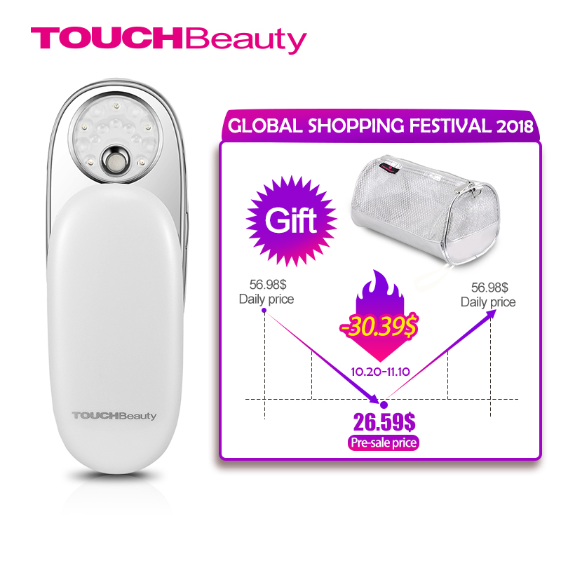 TOUCHBeauty Facial Steamer, Portable Water Mist Sprayer Light 590 Whitening Moisturizing Exfoliating beauty Skin device TB-1185