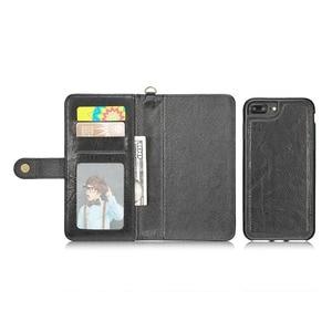 Image 4 - Haissky יוקרה Flip עור מקרה עבור iPhone 6 7 8 X ארנק Flip מקרה עבור iPhone 6 7 8 בתוספת כרטיס חריצי טלפון כיסוי Coque קאפה