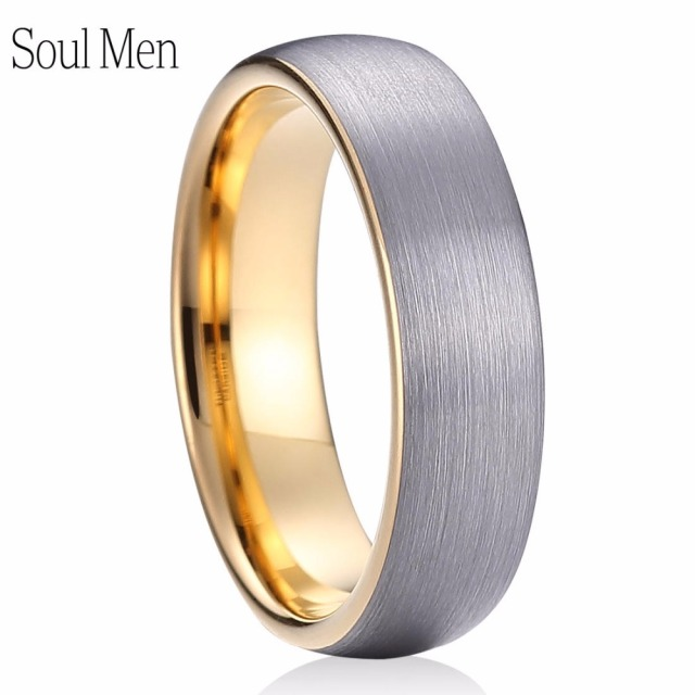fit band wedding satin mens ring flat brushed tungsten comfort rings men s