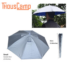 Outdoor Fishing Equipment Shade Hat Umbrella Anti-ultraviolet Folding Sunscreen umbrella hat