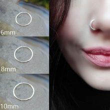 Stainless Steel Seamless Segment Rings Nose Hoops Ear Piercing Tragus Nose Rings Ear Cartiliage Tragus Sexy Body Jewelry #277798(China)