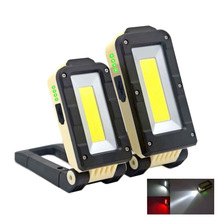 COB XPE LED Work Light 4 moes Portable Flashlight Emergency red Lamp Torch Magnetic Hanging Camping Magnet Folding hook