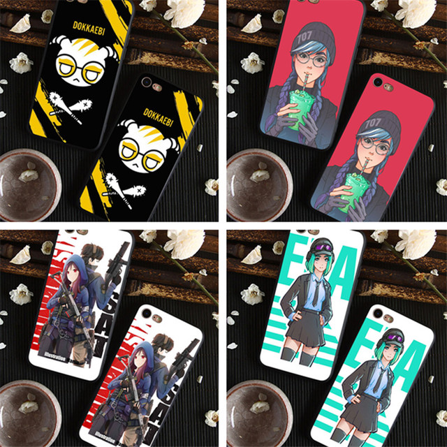 R6 Dokkaebi is calling you black Silicone cover case For iPhone 8 8plus for  iPhone X 7 7 plus 6 6S Plus 5 5S Phone Cases 030f9ff538b