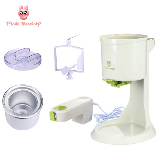 Pink Bunny Machine Icecream Fully Automatic Mini Fruit Ice Cream Maker For Home Electric DIY Kitchen Maquina De Sorvete For Kids
