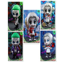 Haocaitoy Figure Toys GCS nendoroid Q Version Suicide Squad Joker Harley Quinn PVC Model Anine Action Figures For Collecting 3cm недорого