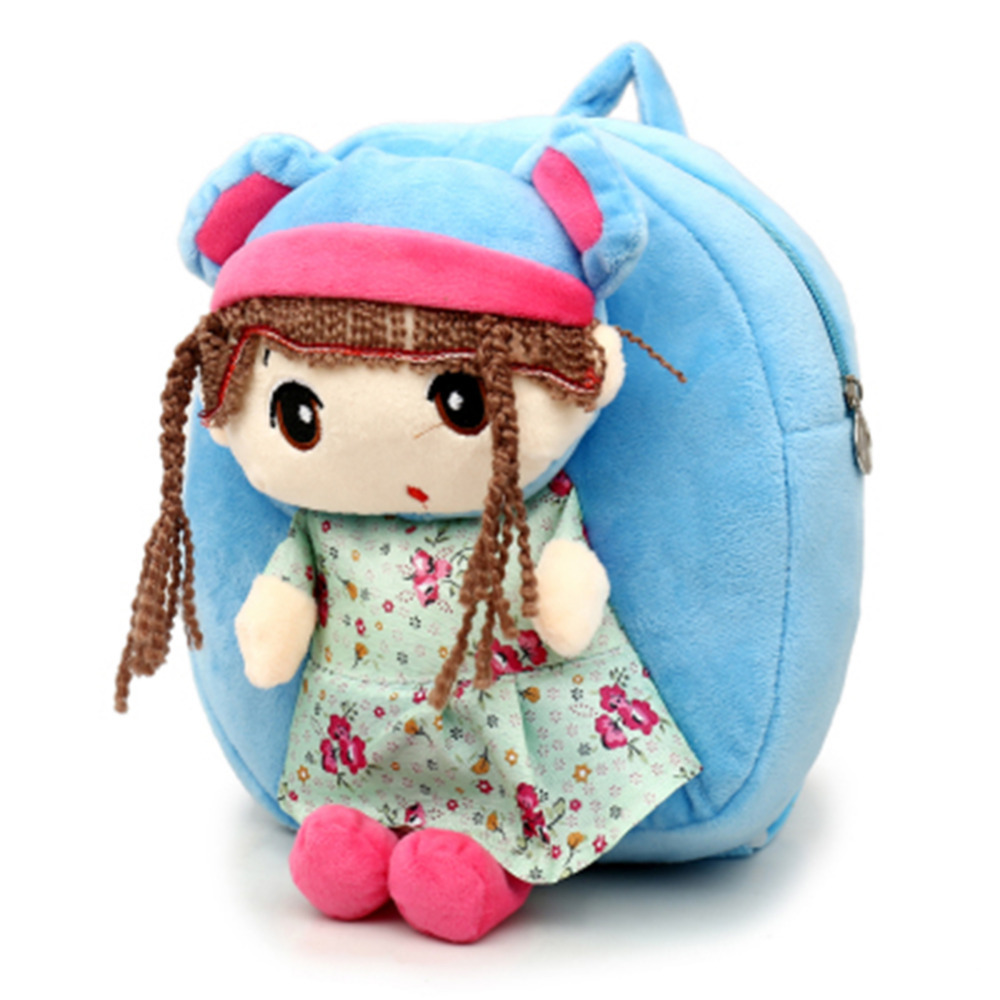 2 Styles Children Baby Plush Dolls Toys Princess Plush Backpack Cartoon Flower Fairy Girls Knapsack School
