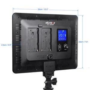 Image 5 - Viltrox VL 200T אלחוטי שליטה דו צבע Dimmable LED וידאו אור לוח 3300K 5600K 192 חרוזים canon Nikon Sony DSLR מצלמה