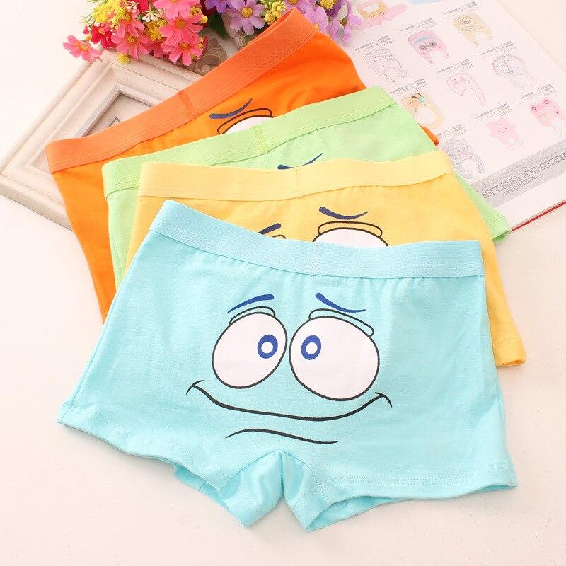 2pc/lot Children's Cute Cartoon Boxers Boys Pure Cotton Soft Colorful Underpants Underwear Boxer