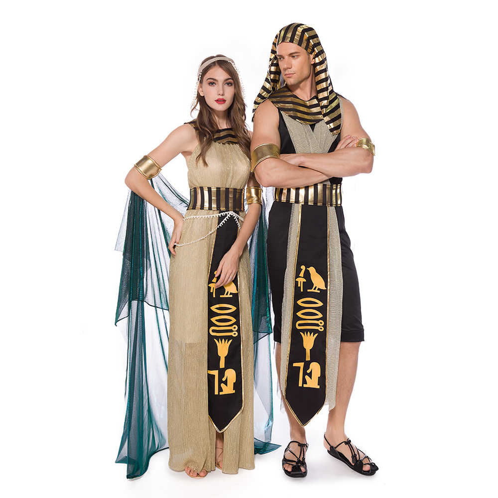 Mens 5 Piece Egyptian Pharaoh Historical Fancy Dress Costume Outfit M L XL
