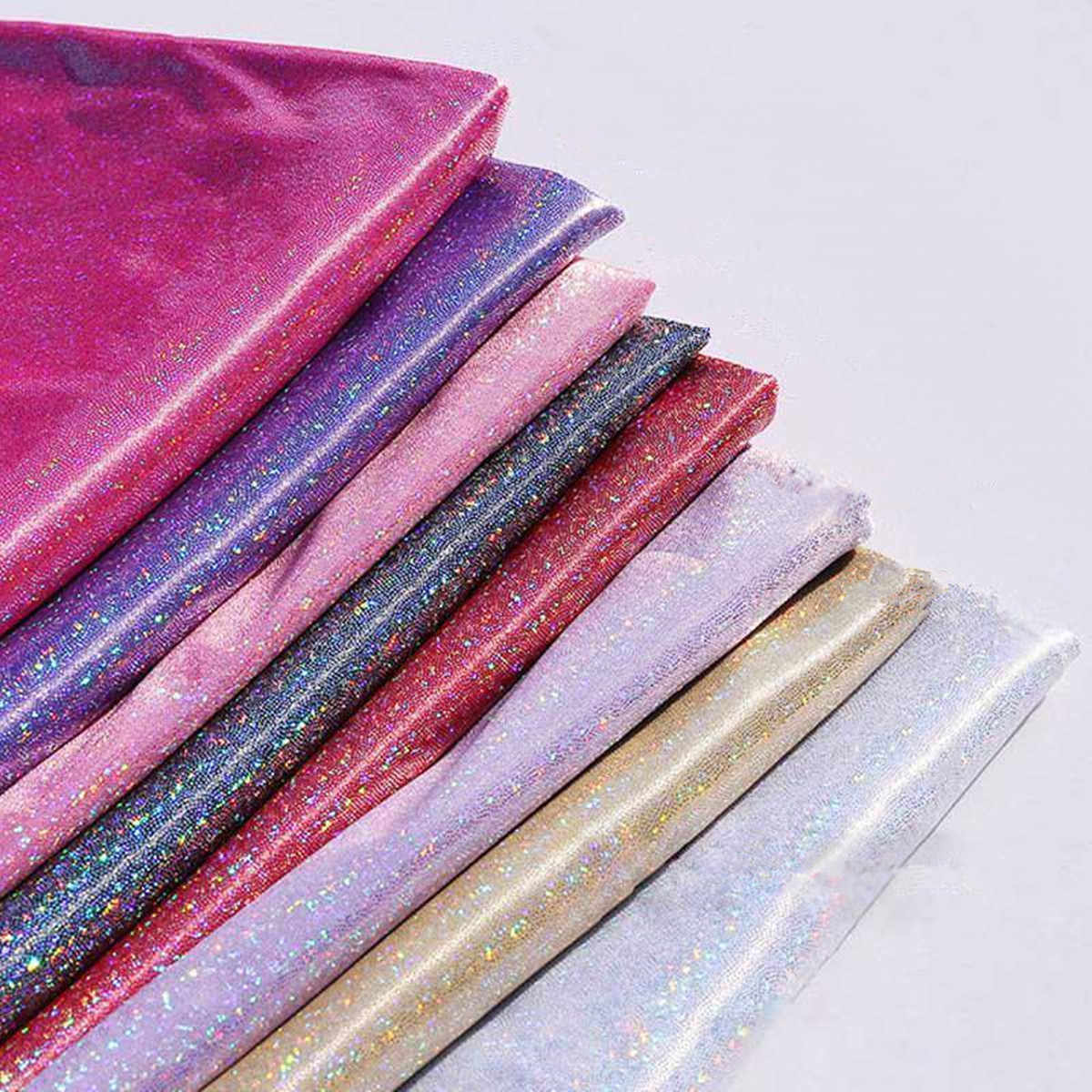 Glitter Iridescent Table Cloth Laser Fabric Stretch Knit Runner Photo Props 150x100cm Party Wedding Decorations Accessories