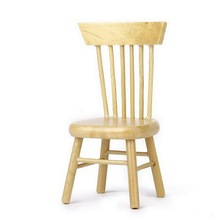 1 Pcs Dining Wooden Chair Doll House Furniture 1/12 Dollhouse Miniature Free Shipping