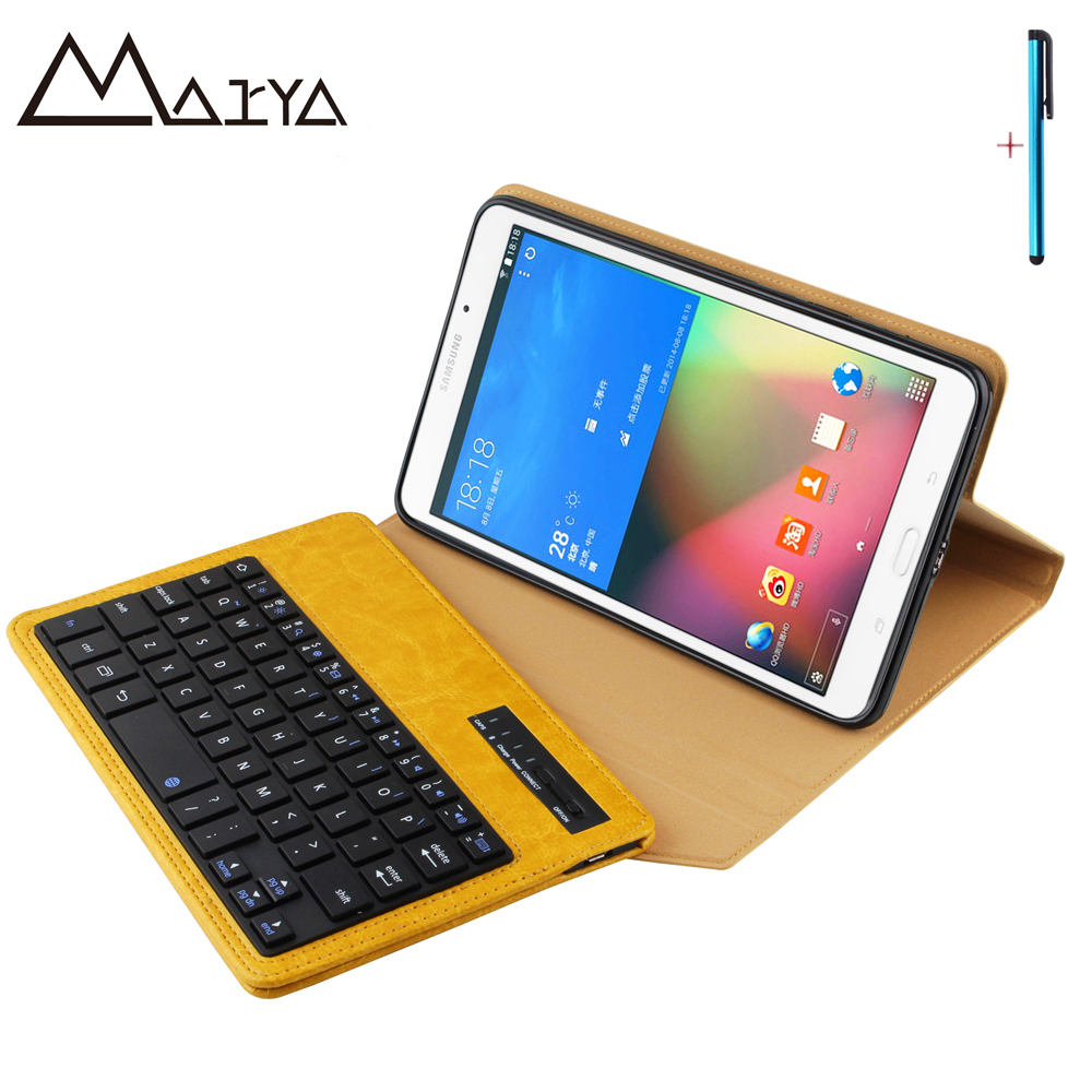 Keyboard For Samsung Galaxy Tab 4 8.0 T330 T331 T335 Tablet Case Removable Wireless Bluetooth Flip Stand PU Leather For Tab4 8.0 laptop keyboard for hp for envy 4 1014tu 4 1014tx 4 1015tu 4 1015tx 4 1018tu backlit northwest africa 692759 fp1 mp 11m6j698w
