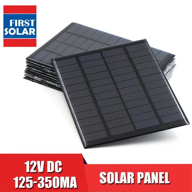 Panel Solar 12V Mini Sistema Solar DIY para la batería cargadores del teléfono celular célula Solar portátil 1,5 W 1,8 W 1,92 W 2W 2,5 W 3W 4,2 W