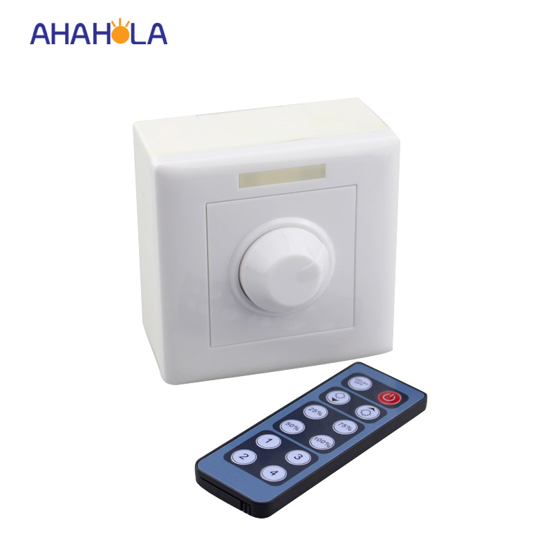 Ir wireless <font><b>remote</b></font> control pwm led <font><b>dimmer</b></font> <font><b>12v</b></font> 24v switch for 3528 5050 single color led strip <font><b>dimmer</b></font> output 1 channel 8A image