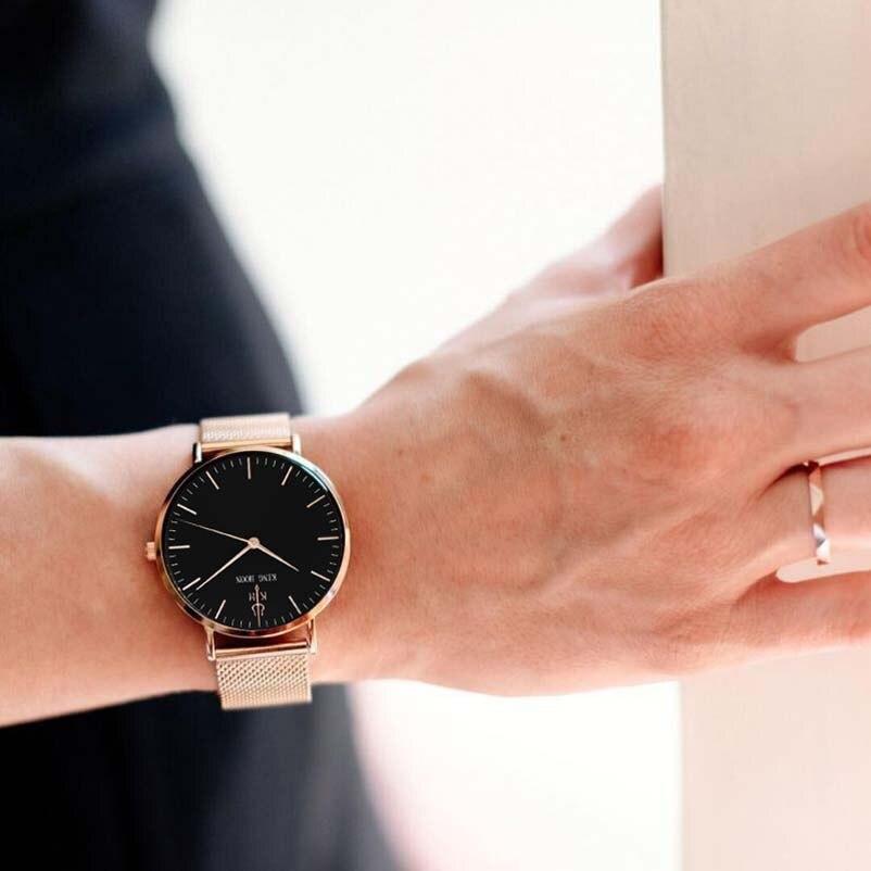 Vrouwen Horloges Topmerk KINGHOON Ultra Dunne Rvs Band Casual Dames - Dameshorloges - Foto 6