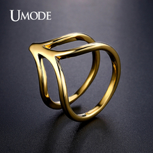 UMODE Brand Newest Design Hot Dark Gold Plated Cocktail Ring For Women Jewelry Fashion Anillos Mujer Bijoux Femme Gifts AUR0370A