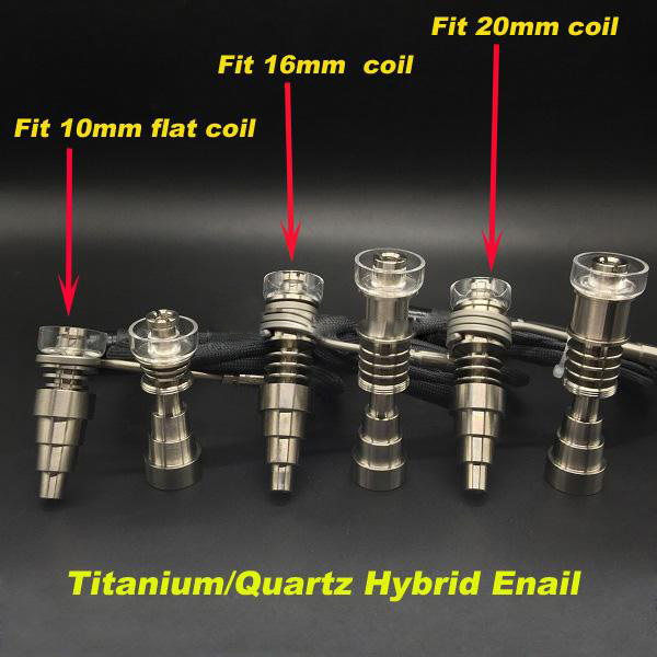 US $18 9 5% OFF|Newest 10mm/14mm/18mm male and female Titanium/Quartz nail  Dnail Fit flat 10mm/16mm/20mm Heater Coil E Nail for Christmas gift-in