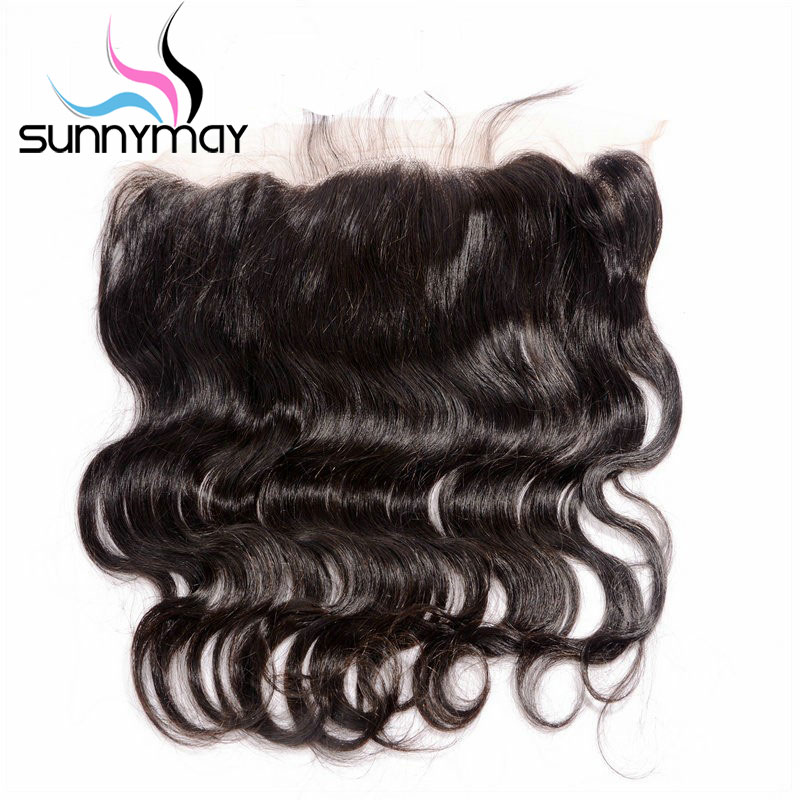 Sunnymay Body Wave Brazilian Virgin Hair Closure Natural Color 13×4 Pre Plucked Human Hair Lace Frontal Free Shipping