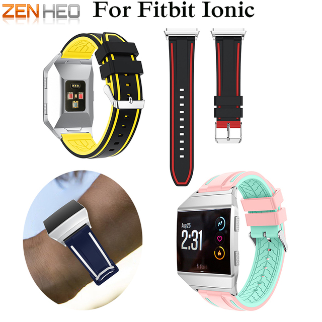 9720877d5 ZENHEO Replacement Silicone Sport Watch Bands Bracelet For Fitbit Ionic  Smart Watch Strap Adjustable Wristband Bangle Accessory