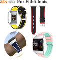 ZENHEO Replacement Silicone Sport Watch Bands Bracelet For Fitbit Ionic Smart Watch Strap Adjustable Wristband Bangle Accessory