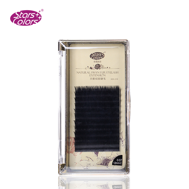 Hot Sale Natrual 0 07mm J C Curl Super Soft Silk Lashes