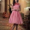 De las mujeres del verano de la vendimia 50 s rojo blanco de la guinga compruebe plisado midi vestido más el tamaño 4xl vestidos de rockabilly pinup columpio vestidos jurken
