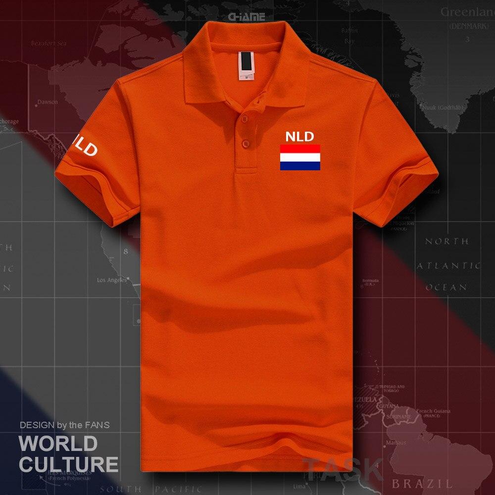 Netherlands Dutch polo shirts men short sleeve white brands printed for country 2019 nation team flag Nederland Holland NLD NL 3