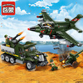 Enlighten 1710 serie militar aéreo y terrestre batalla compatible con lepin ladrillos de bloques de construcción figuras juguetes regalos de los niños