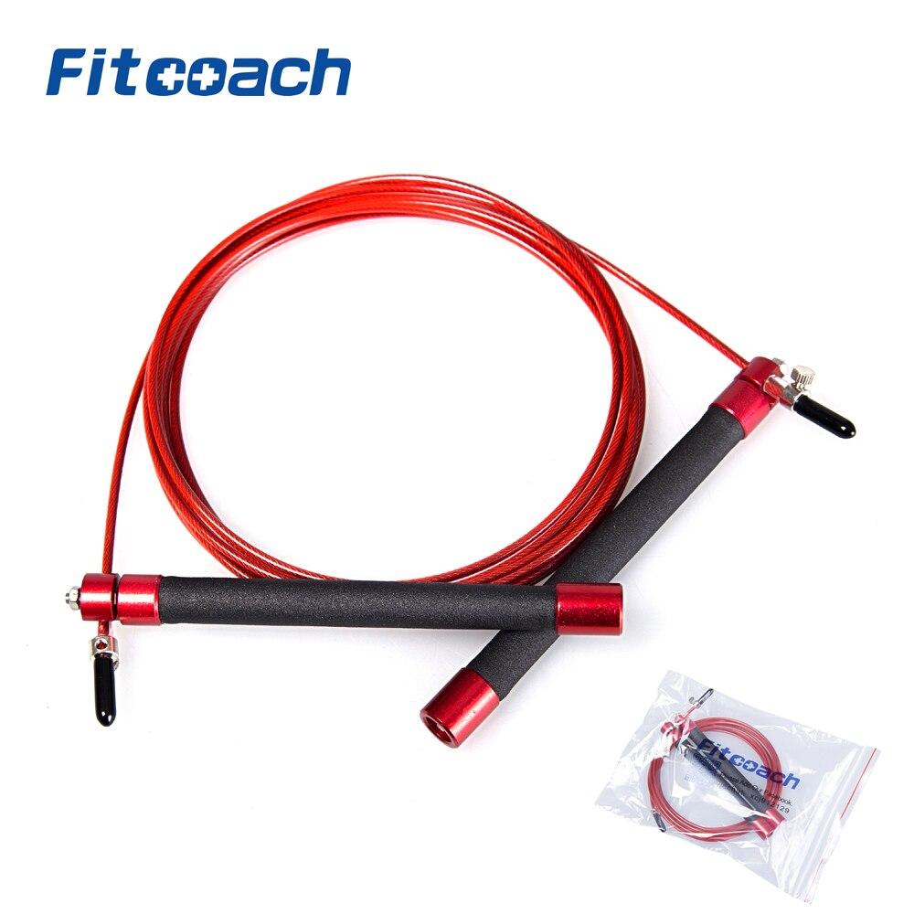 UIC-JR06 atletismo profesional cuerda de salto de velocidad con rodamiento de bolas mango de metal para la Mujer, crossfit fitness Equipment