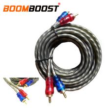 Car audio audio kabel skrętka z czystej miedzi 5 m pojazd audio przewód do konwersji brązowy Auto Wzmacniacz subwoofera tanie tanio PolarLander Linia róg