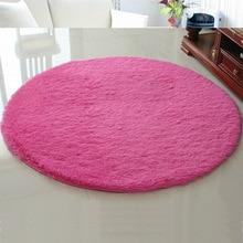 Felpa suave shaggy alfombra redonda antideslizante absorción de agua alfombra del piso estera de yoga para la sala dormitorio sala de casa suministros