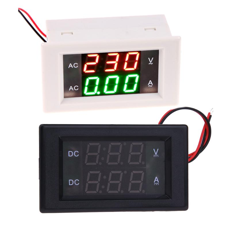 Цифровой вольтметр Амперметр постоянного тока 0-300 В 20A Панель Amp Вольт ток метр тестер синий и красный цвета двойной светодиодный Дисплей Мо...