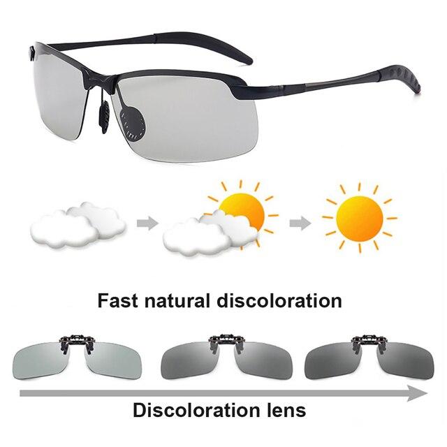 f7d7cb2a26 Chameleon Sunglasses Women Sun UV Discoloration Lens Glasses Sunglass for  Cars Driving Photochromic Men s Polarized Sunglasses