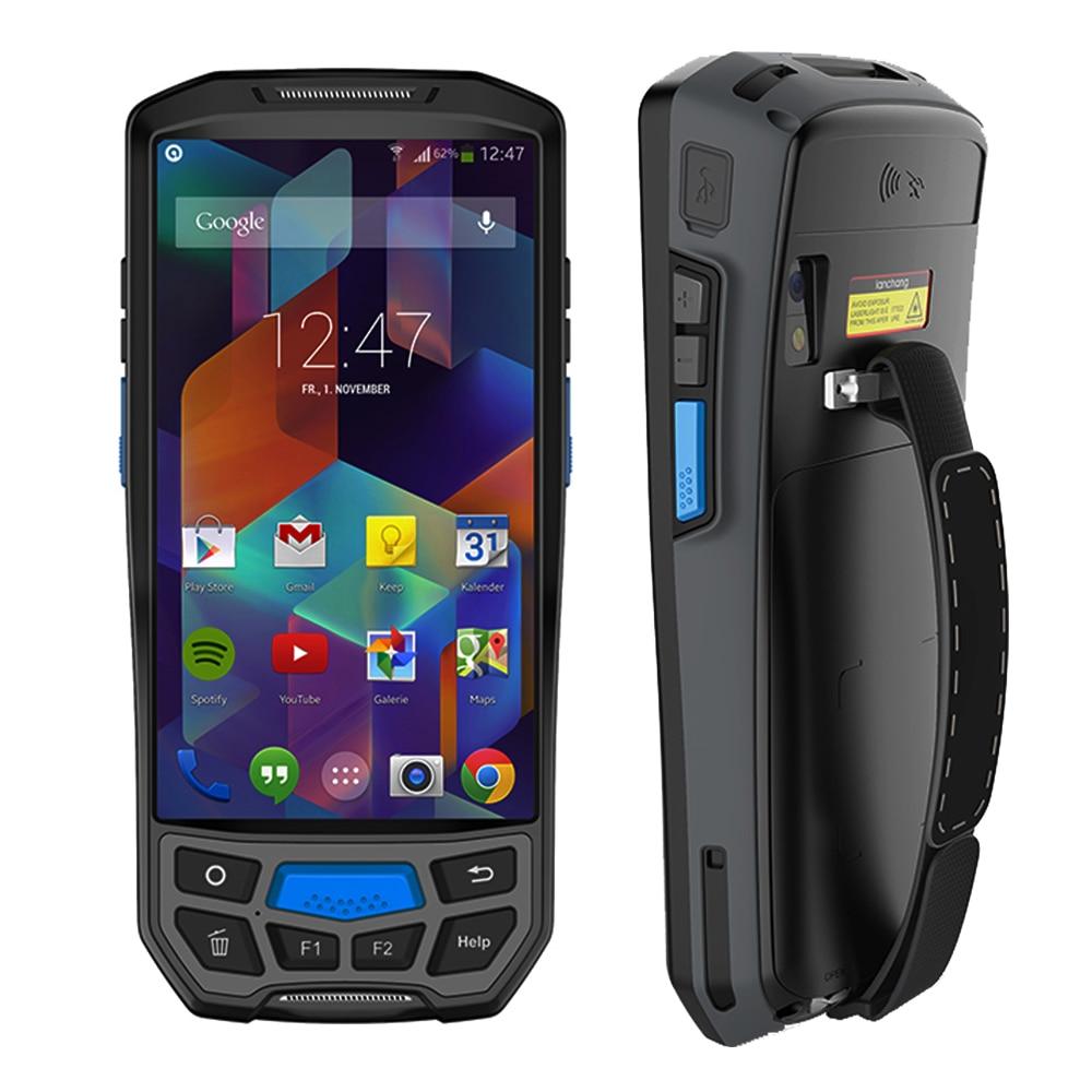 IssyzonePOS Android 7.0 De Poche PDA Sans Fil WIFI Bluetooth 1D 2D QR De Code Barre Scanner GPS NFC RFID UHF De Poche POS Terminal