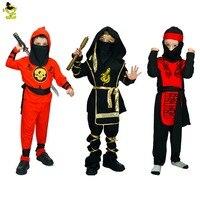 Boys Girls Child Anime Ninja Cosplay Costumes Kids Classic Halloween Costumes Martial Arts Costume Fancy Party