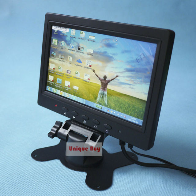 "free tracking# 7""TFT LCD Video Monitor Kit for Camera Camcorder with BNC VGA AV Input  800x480 pixels ( Maximum 1024x768 pixels)"