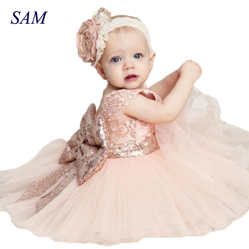New Fashion Sequin Flower Girl Dress Party Birthday wedding princess Toddler baby Girls Clothes Children Kids Girl Dresses flower girls dress 11 color with rose party birthday chirstening dress for baby girl princess children toddler girl vest dresses