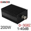 Телекоммуникационное использование 200 Вт RF аттенюатор N male to N female DC-3G 1-40 дБ затухание RF коаксиальный Джек аттенюатор конвертер связи