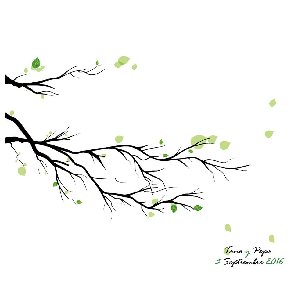 Wedding Guest Book Decoration DIY Fingerprint Tree Signature Canvas ...